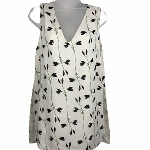Thakoon 100% silk off White floral lined Tunic 6
